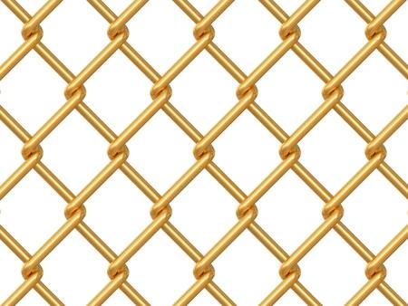 rabitz: chainlink fence on white background