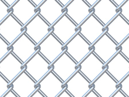 chainlink fence on white background Stock Photo - 7999395