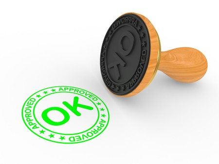approvement: Rubber Stamp - approved. On a white background Stock Photo