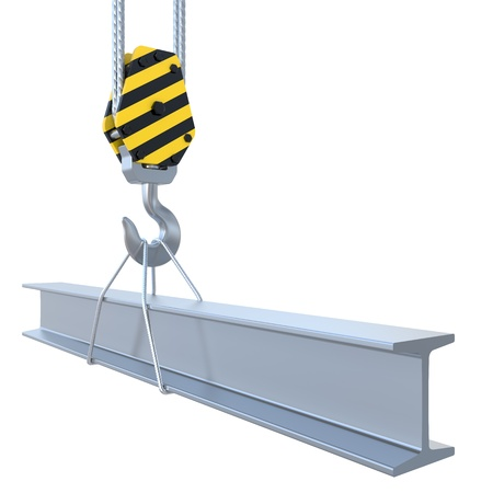 structural steel: structural steel with the hook and the steel rope