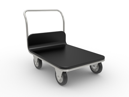 emergency cart: service cart on the white background