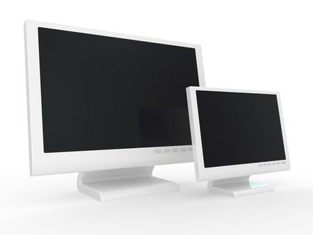 Monitor lcd, tv realistic 3D illustration. Stock Illustration - 8384750