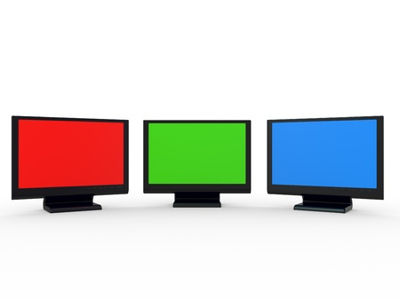 Monitor lcd, tv realistic 3D illustration Stock Illustration - 8456229