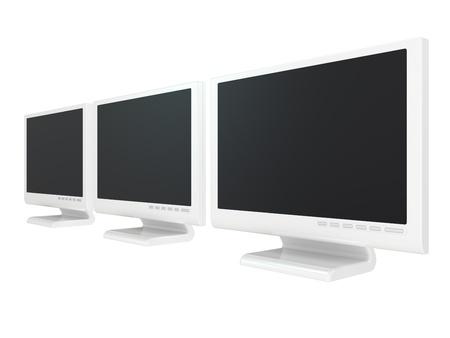 Monitor lcd, tv realistic 3D illustration Stock Illustration - 8520993