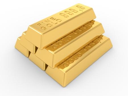 goldbars: the gold ingots on a white background