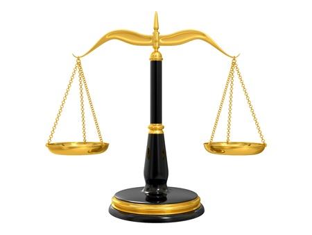 balanza de la justicia: cl�sico balanza de la justicia, aislados en fondo blanco
