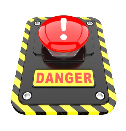 Danger, help button  on a white background Stock Photo - 8919847