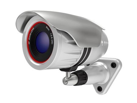 Security camera isolated on white background photo