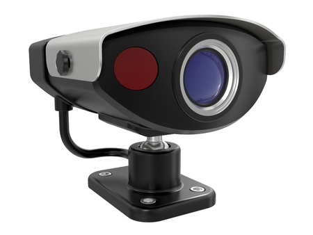 Security camera isolated on white background Stock Photo - 9191612