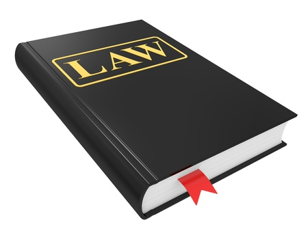 Law book isolated on a white background
