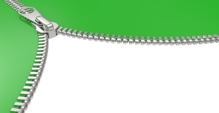 Zipper on white background. 3D image isolated on a white Stock Photo - 9414970