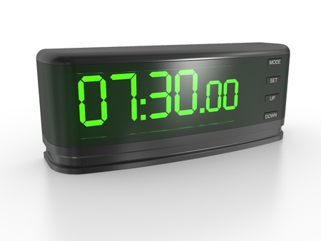 digital Numbers: the digital clock on a white background