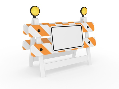 Road warning sign on a white background Stock Photo - 9618582