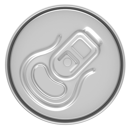 beer can top view isolated on white background Stock Photo - 9731649