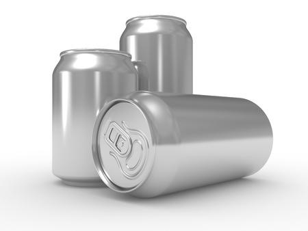 jarra de cerveza: Cerveza de aluminio puede aisladas sobre fondo blanco