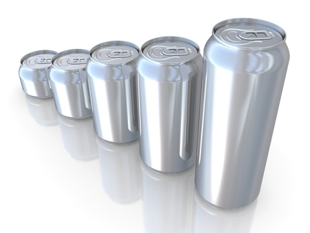 Aluminum beer can isolated over white background photo