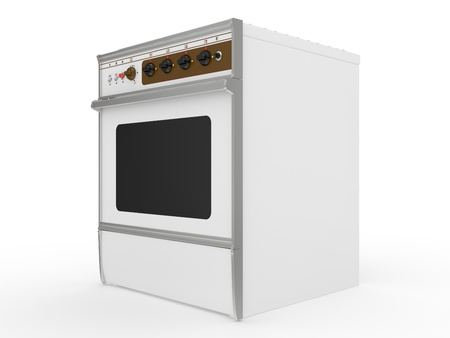 white gas cooker on a white background photo