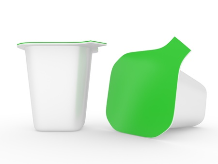 yogur: 3D. Fondo para diseño de yogur de embalaje Foto de archivo