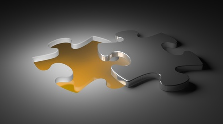 group link: Puzzle piece the missing piece with light glow