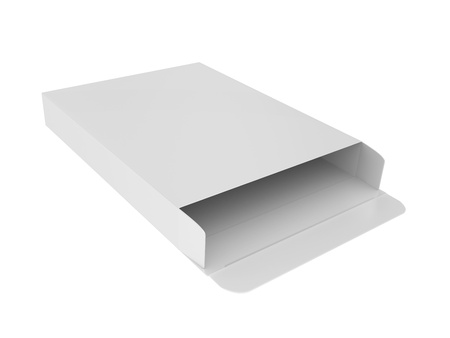 Open cardboard box on a white background Stock Photo - 10641028