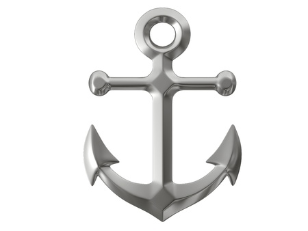 anchor on white background Stock Photo