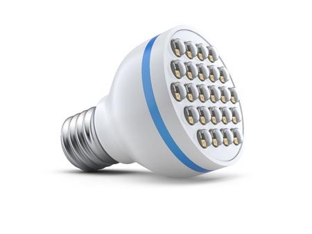 modern light-emitting diode lamp on a white background Stock fotó