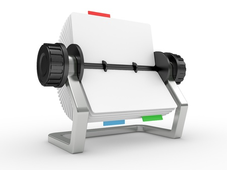 Rolodex on a white background photo