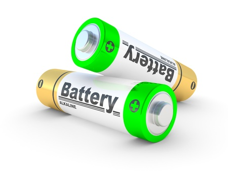 aa: the AA batteries on a white background