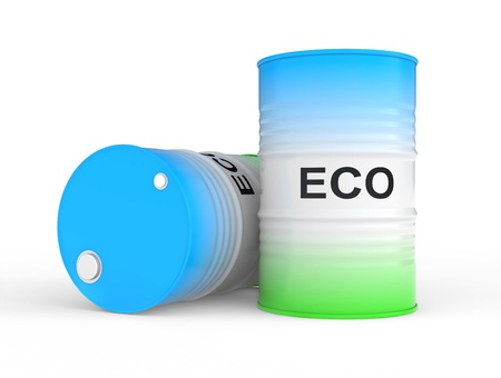 ecologically: oil barrel with ECO fuel  Ecologically pure fuelfuel