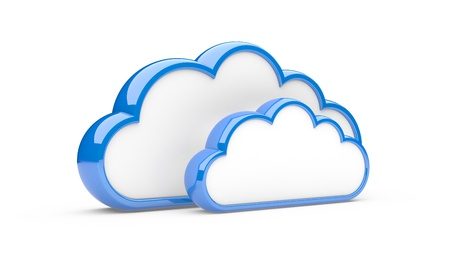 clouds isolated on a white background  3d illustration