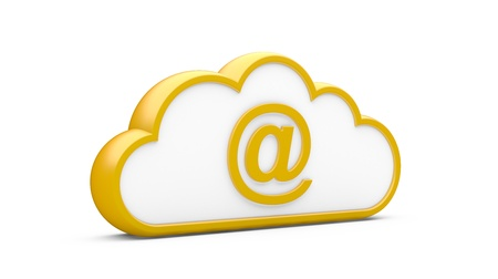 Cloud and sign the Internet on a white background Stock Photo - 15586107