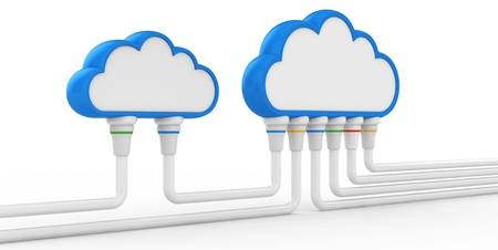cloud and communications  3d illustration on a white background Stock Illustration - 15969445