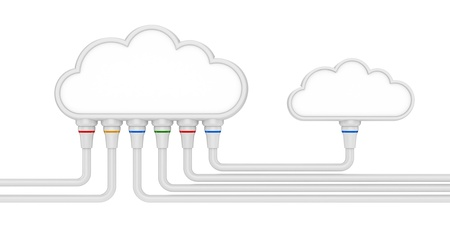 cloud and communications  3d illustration on a white background Stock Illustration - 16058083