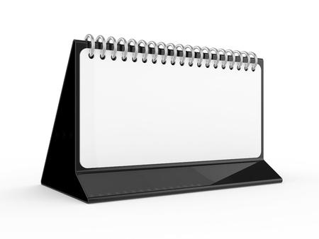 paper folding: Blank desktop calendar on white background