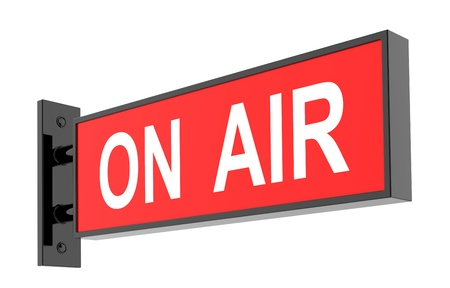 live on air: On Air Sign on White Background  3d image