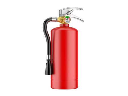 Fire Extinguisher  3d image on a white background Stock Photo