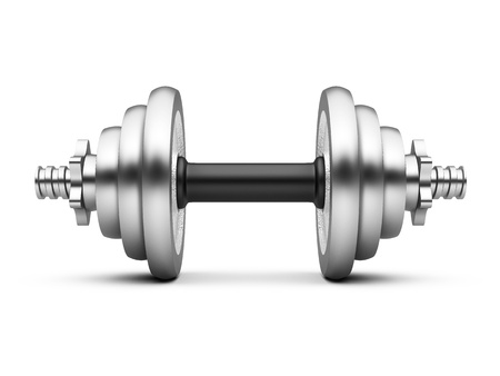 Dumbell weights, isolated on a white background