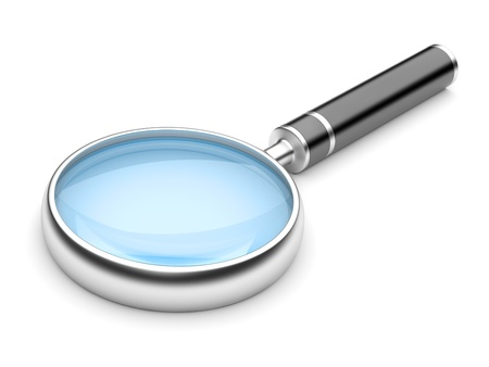 Magnifying Glass, Isolated On White Background  3d Illustration Stock Illustration - 17701654