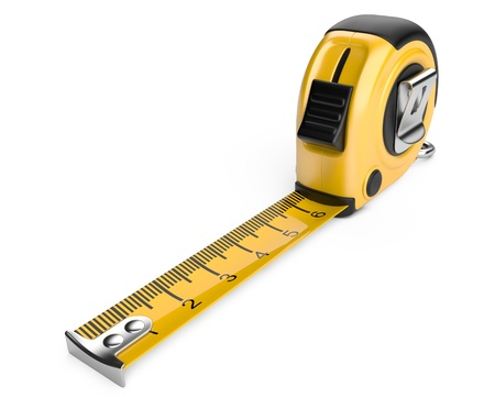 tape measure  3d illustration  isolated on white background