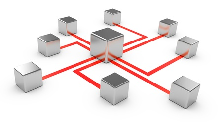 broadband: Abstract communications on a white background, conception of network, communication 3d