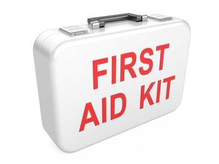 First aid kit isolated on white background Stock Photo - 20749549