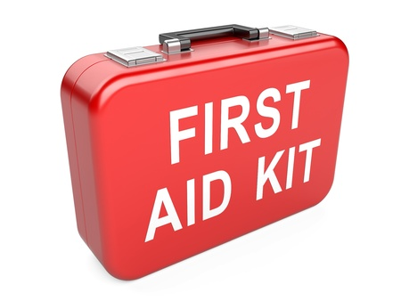 First aid kit isolated on white background Stock Photo - 20749550