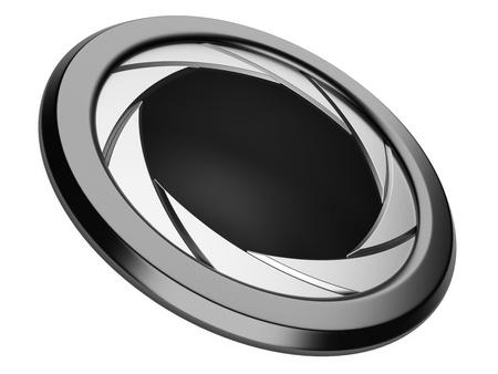 aperture - camera shutter image on it, isolated on white background 版權商用圖片 - 21615903