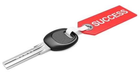 Key to success - business concept. 3d image isolated on a white background 版權商用圖片