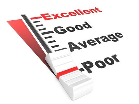 detailed 3d illustration of a customer satisfaction regulator illustration