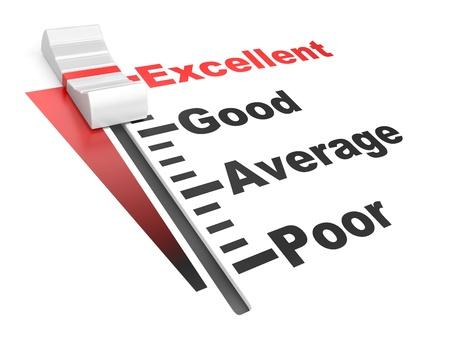 detailed 3d illustration of a customer satisfaction regulator Stock fotó