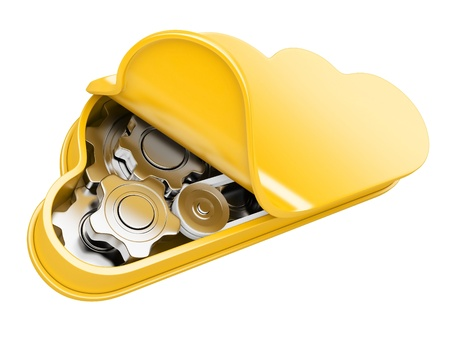 Cloud computing. 3d illustration isolated on a white Stock Illustration - 21999405