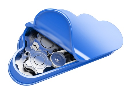 Cloud computing. 3d illustration isolated on a white illustration