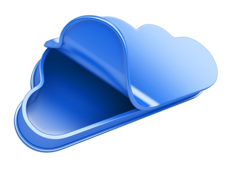 cloud open as can. 3d an illustration isolat on a white background illustration