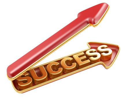 success arrow. 3d concept of aspiration to the big purpose photo
